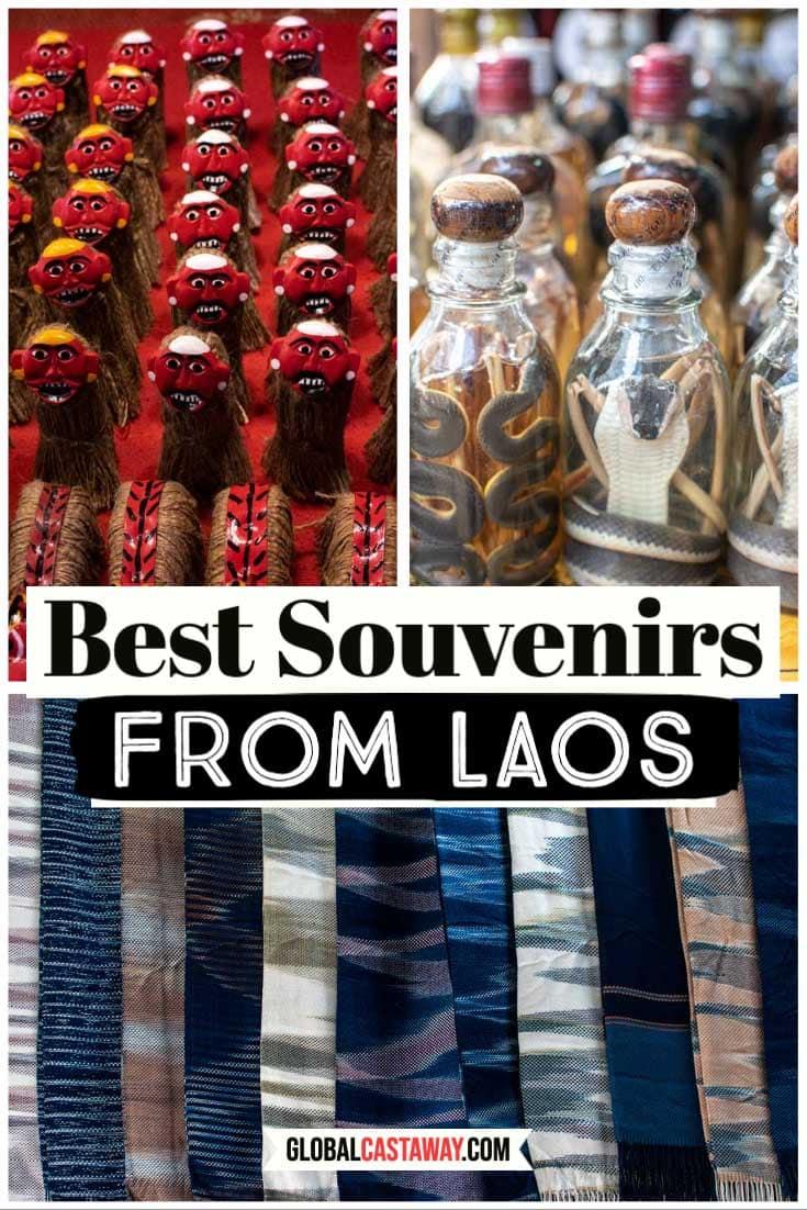 Laos souvenirs pin