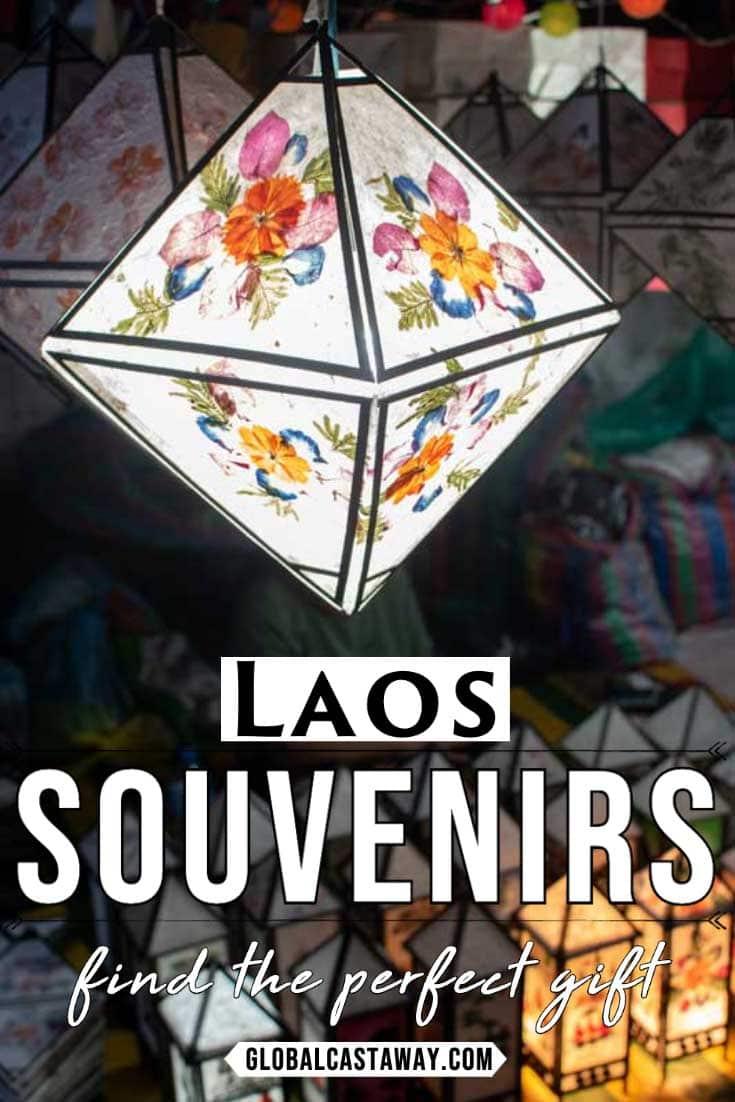 Souvenirs from Laos pin