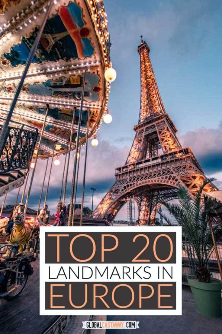 european landmarks pin