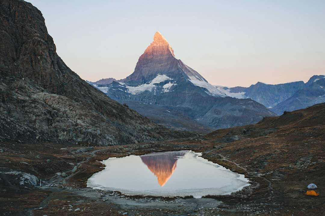 matterhorn-with-reflection-in-a-mountain-lake