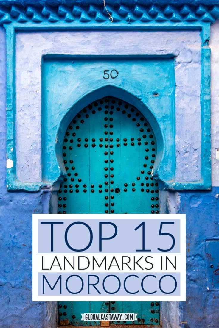 top morocco landmarks pin