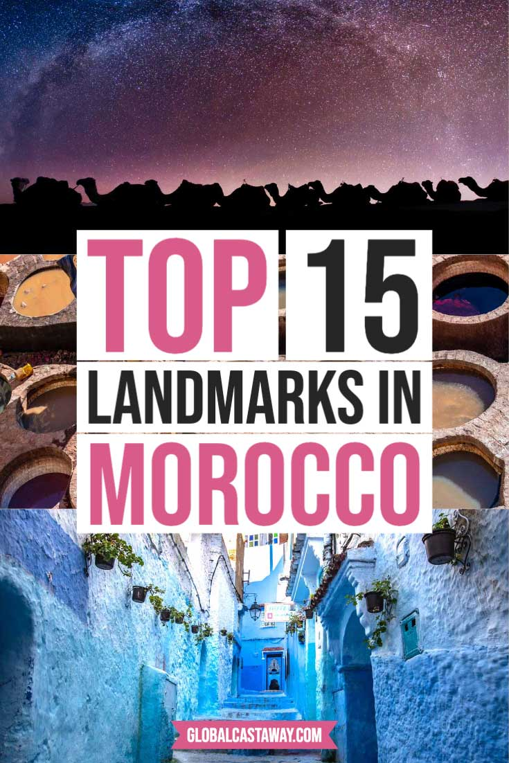 landmarks in morocco pin