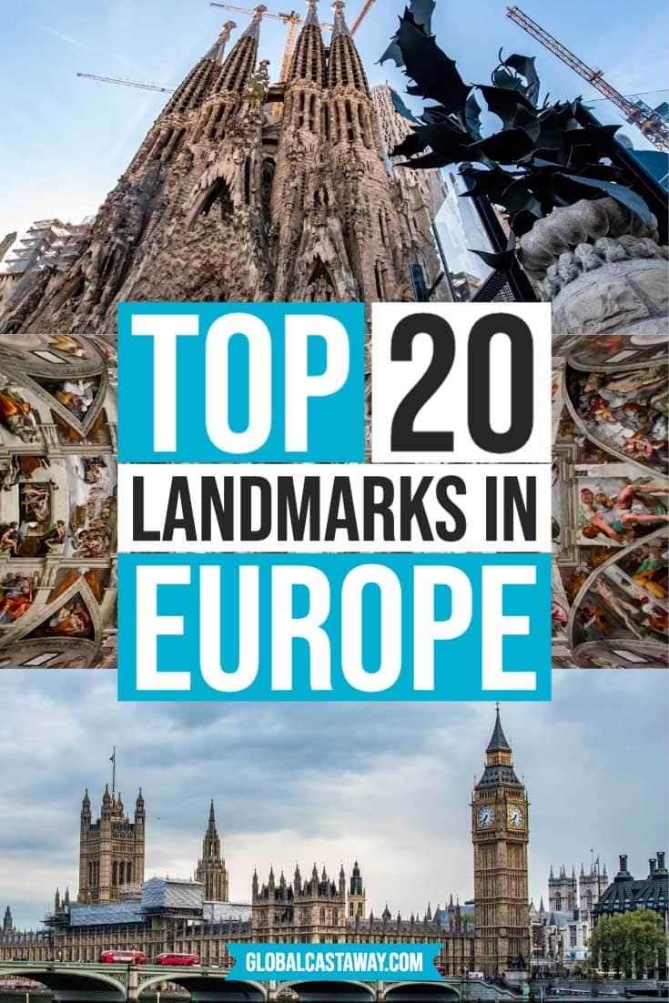 landmarks in europe pin