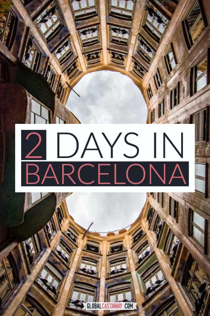 2 day barcelona itinerary pin