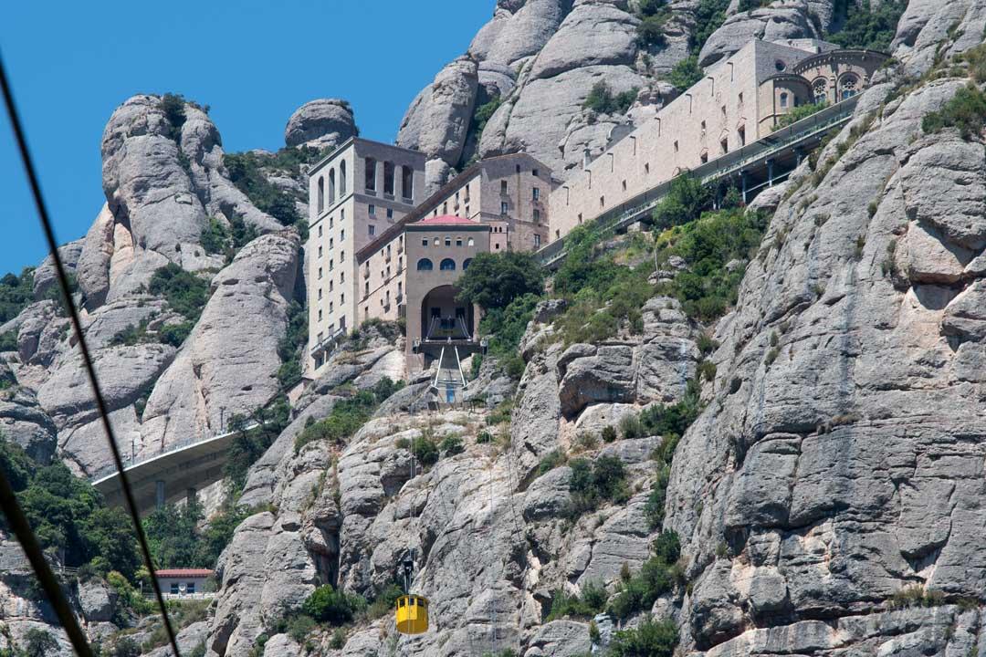 monserrat monastery from below