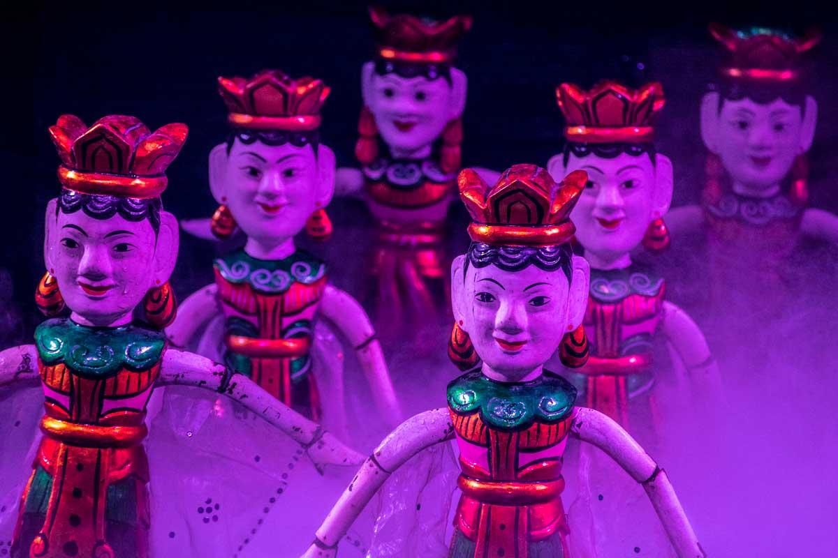 hanoi bucket list - water puppet performance