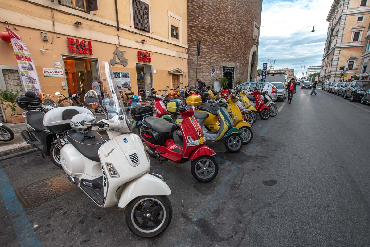 line-of-colorful-vespas