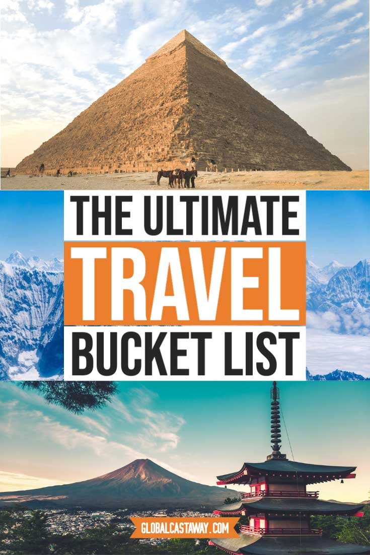 The ultimate bucket list ideas - more than 1700 items from all 196 countries in the world | bucket list before I die, travel bucket list ideas | bucket list ideas for men | Bucket list ideas for women | things to do before i die | #bucketlistideas #travelbucketlist #bestbucketlistideas