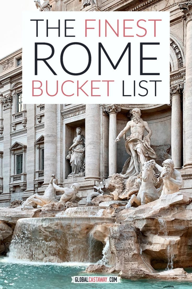 Rome bucket list pin
