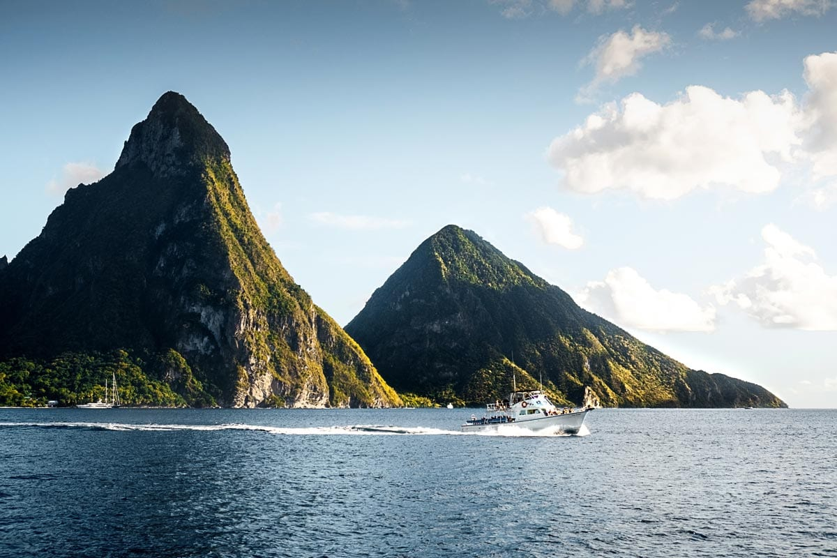 st.lucia-islands-with-a-boat