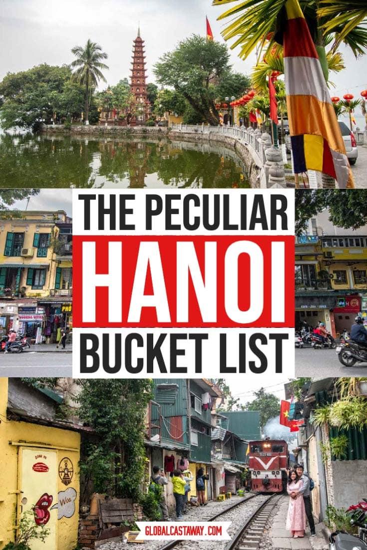 the peculiar hanoi bucket list pin