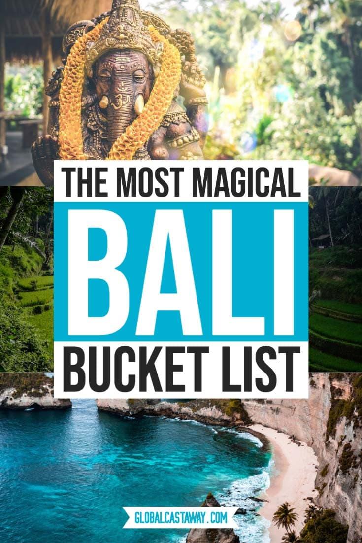 magical bali bucket list pin