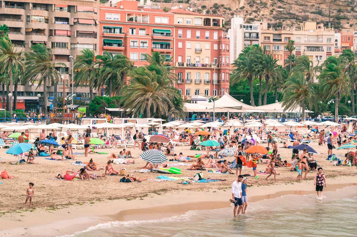 spanish-beach-full-of-people