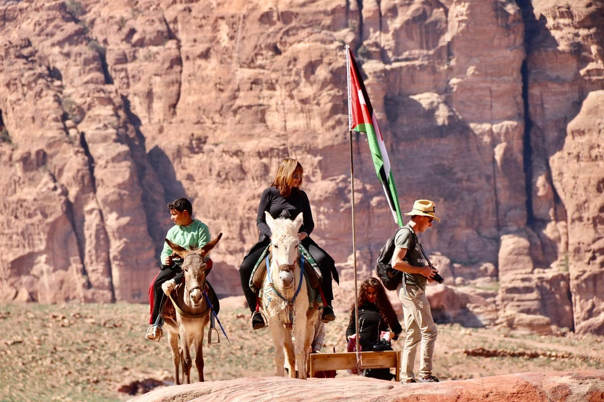facts-about-petra-family-treking-with-a-donkey