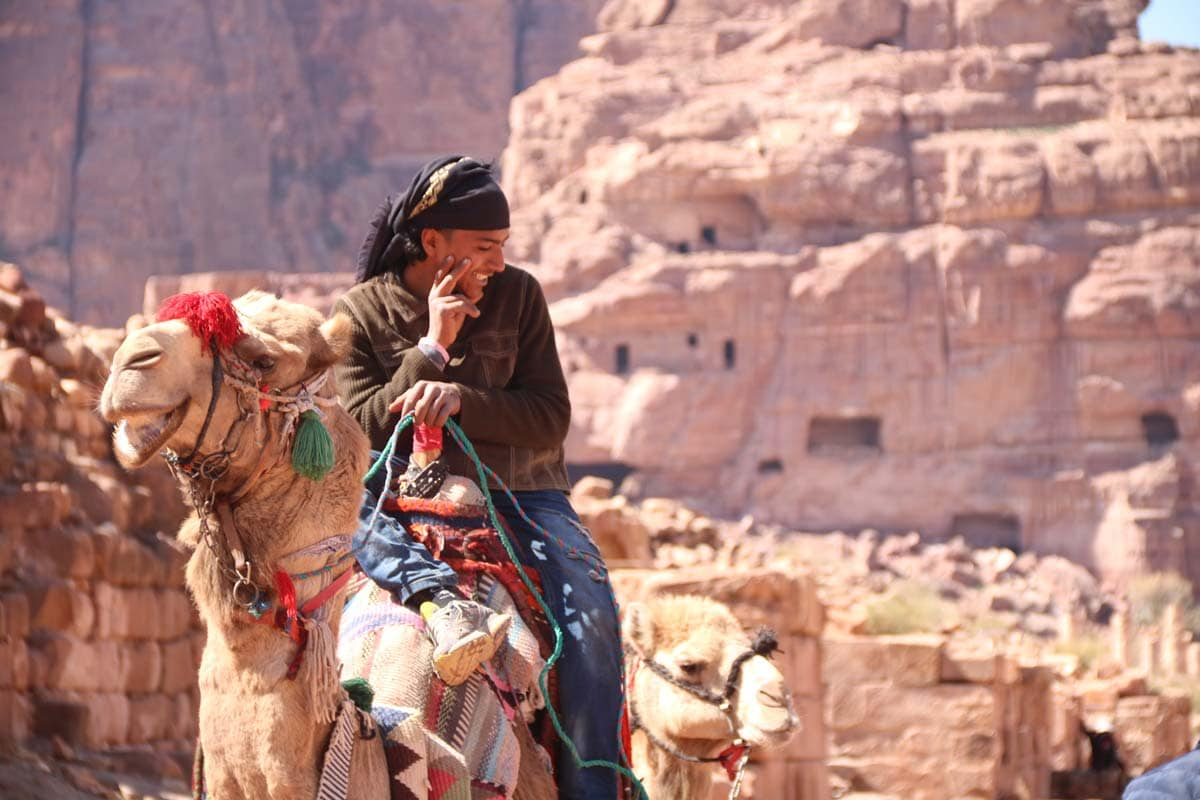 petra-facts-bedouin-smiling-on-a-camel