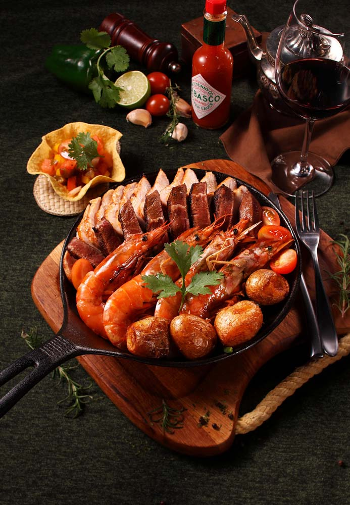 various-tapas-with-a-glass-of-wine