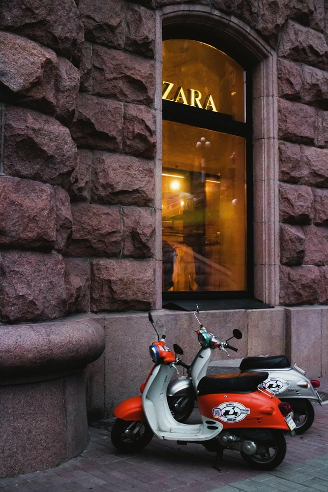 zara-store-with-two-scooters-in-front-of-it