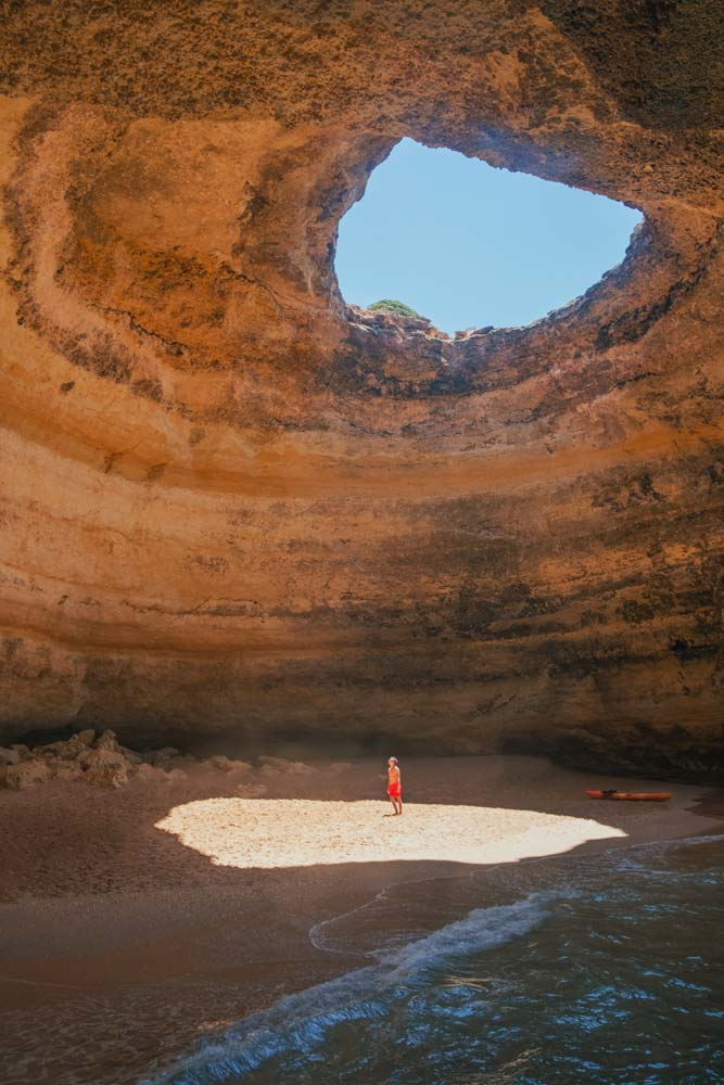 fun-facts-about-portugal-man-standing-on-a-sun-spot-in-a-cave-