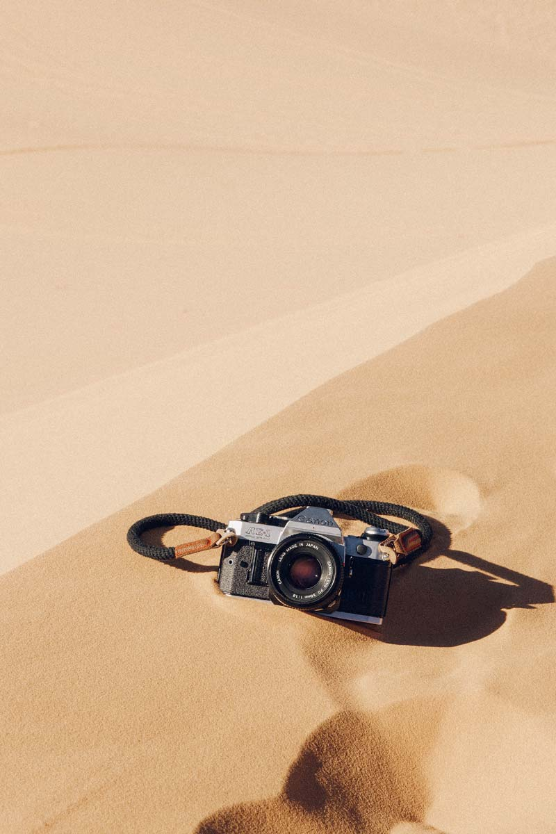 morocco-facts-camera-in-a-desert-sand-dune