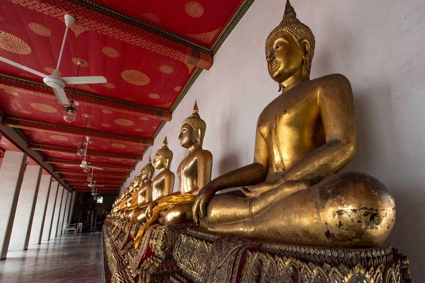 multipl buddhas in bangkok