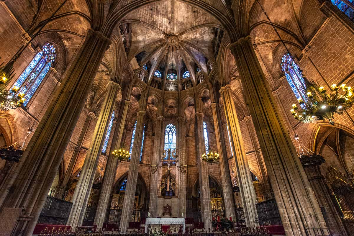 Curious Barcelona facts -cathedrals interior