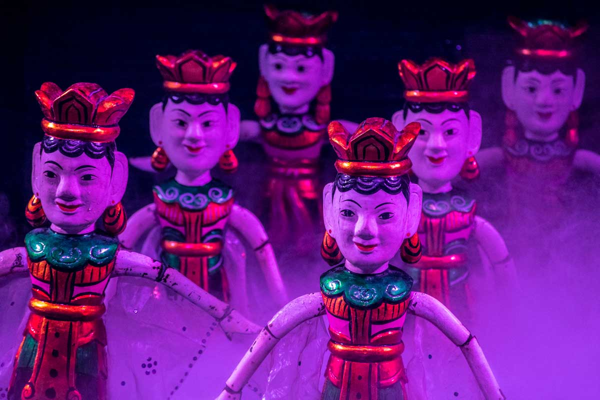 Hanoi photos - water puppet theatre