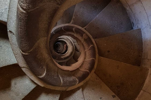 The staircase of the Sagrada
